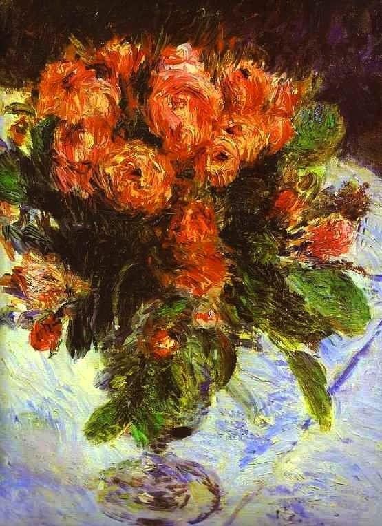 Roses,1890 by Pierre-Auguste Renoir