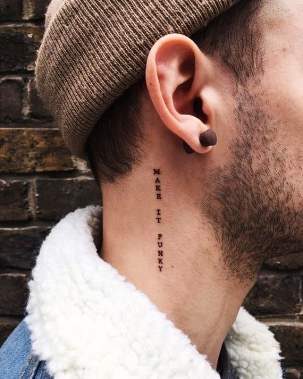 55 Small Tattoo Designs For Men With Deep Meanings Best Tattoos In 2020 Neck Tattoos Women Small Neck Tattoos Neck Tattoo For Guys