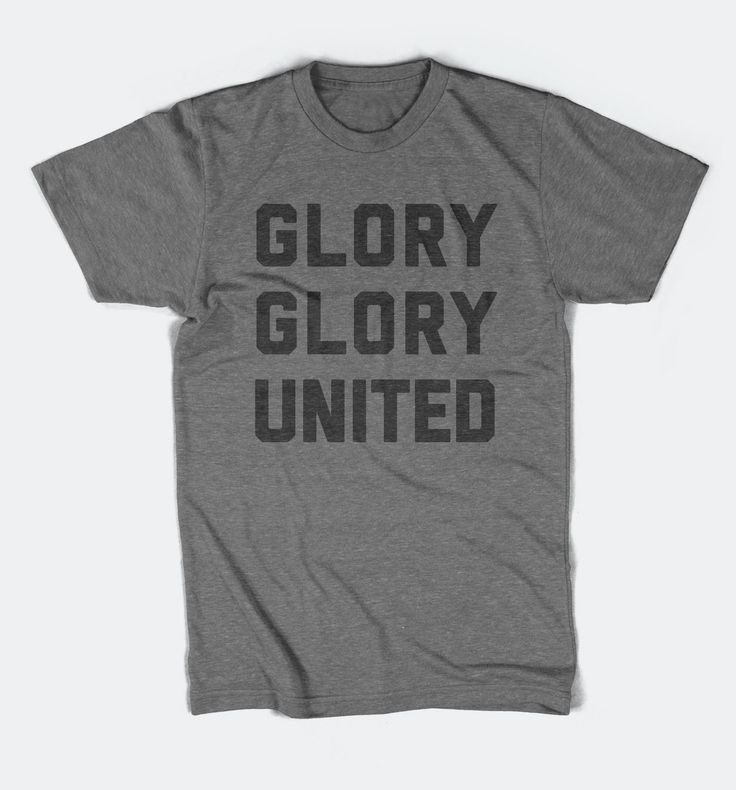 Glory Glory United - Manchester United Inspired - Tri-Blend T-Shirt