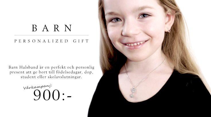 Barn Halsband är en perfekt och personlig present att ge bort till födelsedagar, dop, student eller skolavslutningar. Alltid fri frakt och skickas rekommenderat. https://shop.styrlin.com/product.html/exklusive-halsband-bw?category_id=21