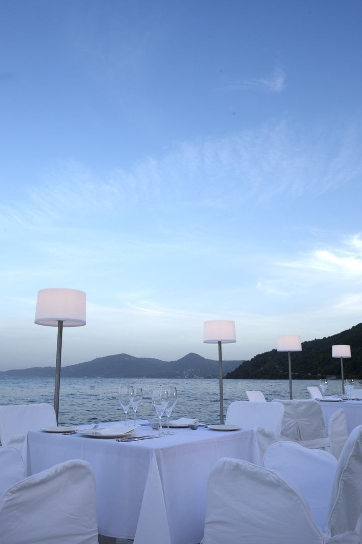 Large terrace offers a spectacular view of #Corfu and the #Ionian Sea.