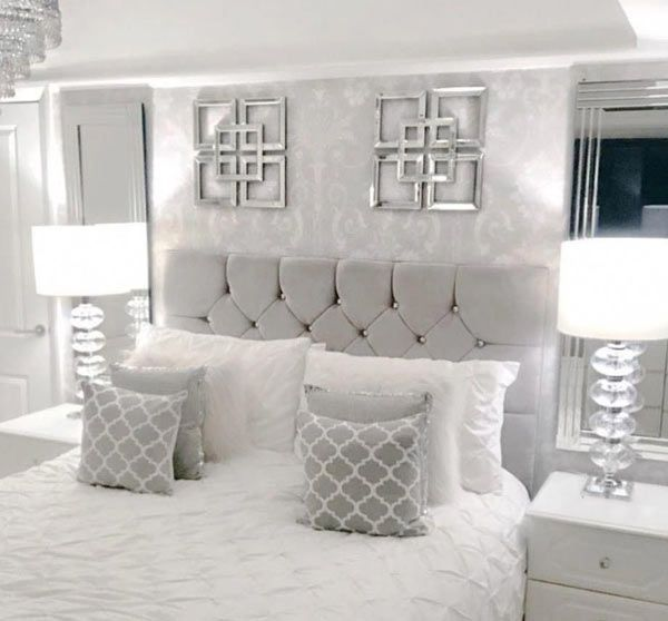 25 Stunning Grey And Silver Bedroom Ideas With Photos Stylish Master Bedrooms Grey Bedroom Decor Bedroom Inspiration Grey