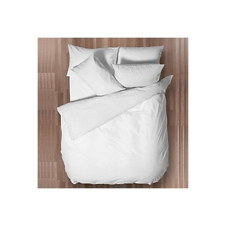 £5.50 View Chartwell Easy Care White Plain Double Bed Cover Set details