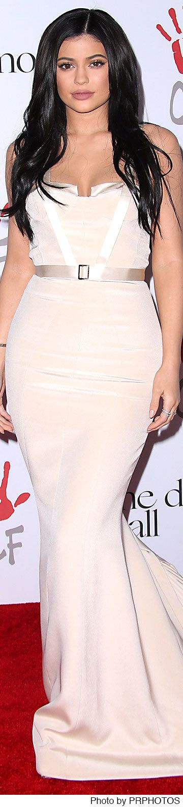 Kylie Jenner wearing August Getty Dress – 2015 Diamond Ball