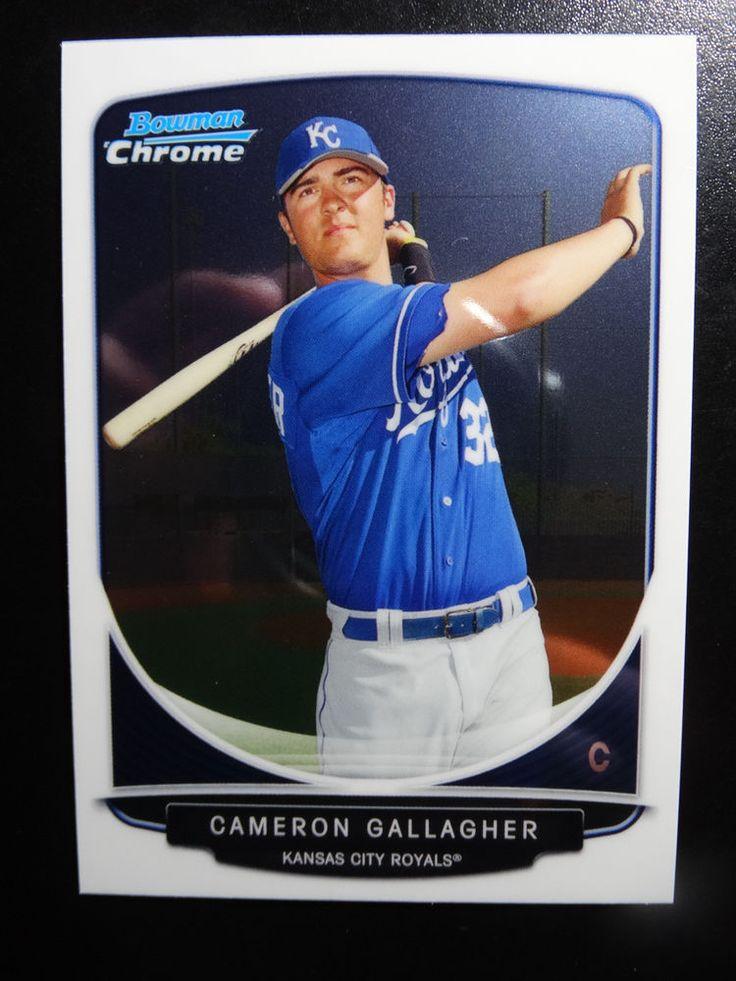 2013 Bowman Chrome #BCP177 Cameron Gallagher Kansas City Royals Baseball Card #BowmanChrome #KansasCityRoyals