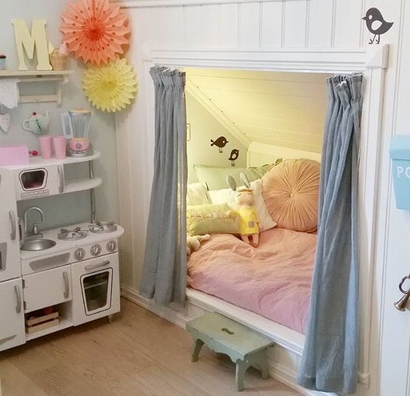 "Inspiration for Amanda's ""built-in"" bed."