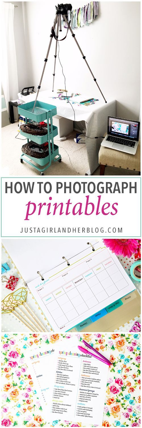 How to Photograph Printables 93 best branding