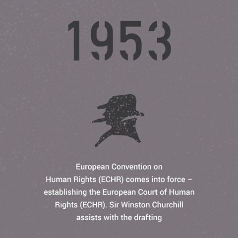 In 1953, the European Convention of Human Rights came into force. This was hot on the tails of the Universal Declaration of Human Rights expressed in 1948 by the newly formed United Nations following the end of the war.  Sir Winston Churchill assisted with drafting the European Convention of Human Rights, which established the European Court of Human Rights.  #hearingtheirvoices #ECHR #humanrights #history #infographic #deisgn