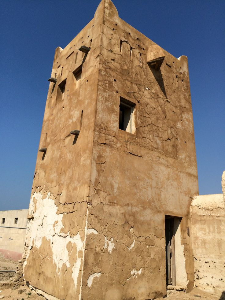 Watch tower in an old abandoned city ghost town Jazeera Humrah