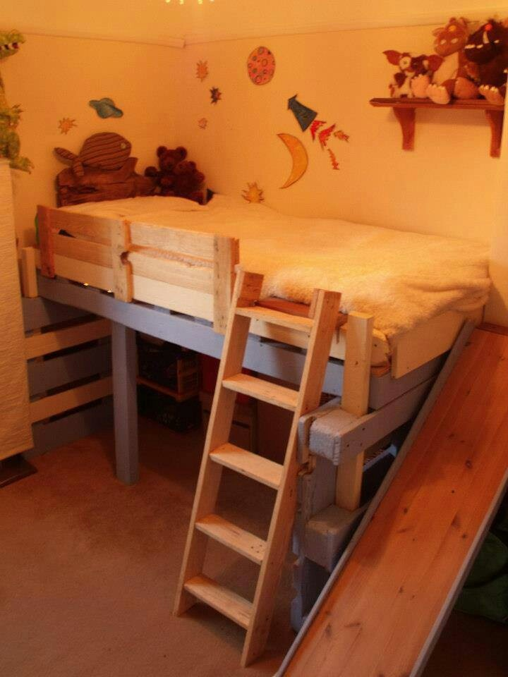 Cama infantil resbaladilla recamaras infantiles pinterest - Sofas cama infantiles ...