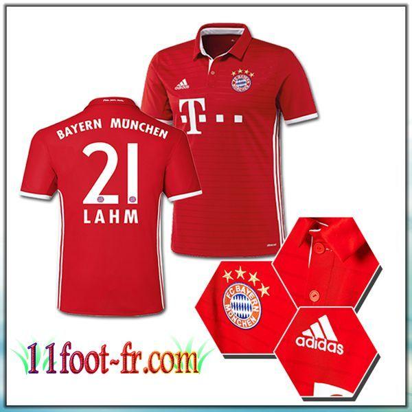 Maillot de Foot FC Bayern Munich LAHM 21 Domicile Rouge 2016 17