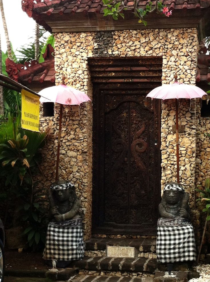 A typical Balinese house in #Seminyak #Bali