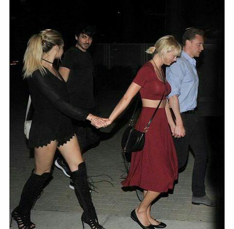 June 21, 2016: Taylor, Tom, Matt, Kelsea and Abigail leaving Selena's show in Nashville!