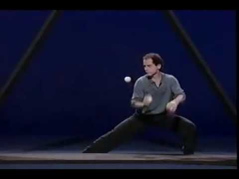 "Michael Moschen winner of a Macarthur Genius Award performs ""THE TRIANGLE"" one of the most famous juggling routines ever created."