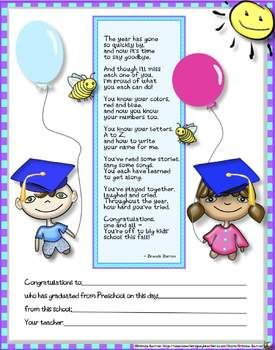 The 25 best preschool graduation poems ideas on pinterest pre k preschool graduation certificates bundle end of the school year yadclub