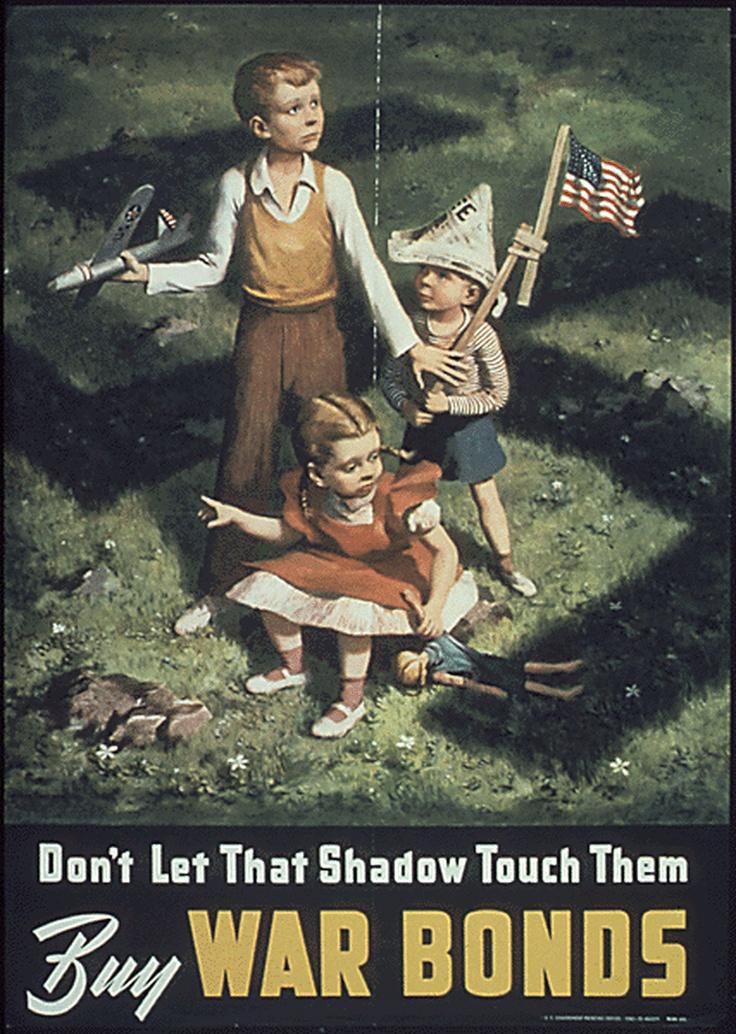 A War Bonds poster from World War II.