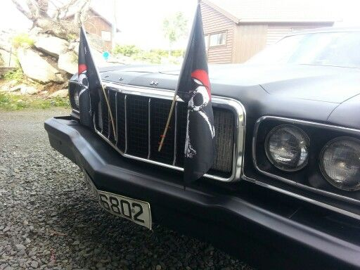 Decorated for our national day here in norway. #1976 #grantorino #amcar ❤