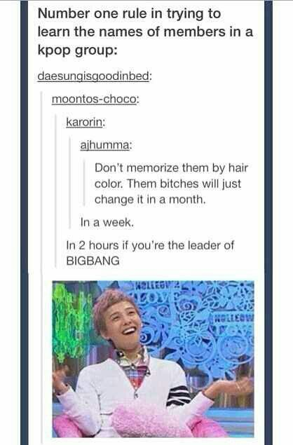 Lol GD's hair is like a palette❤ #GDRAGON #KwonJiYong #meme [owner]