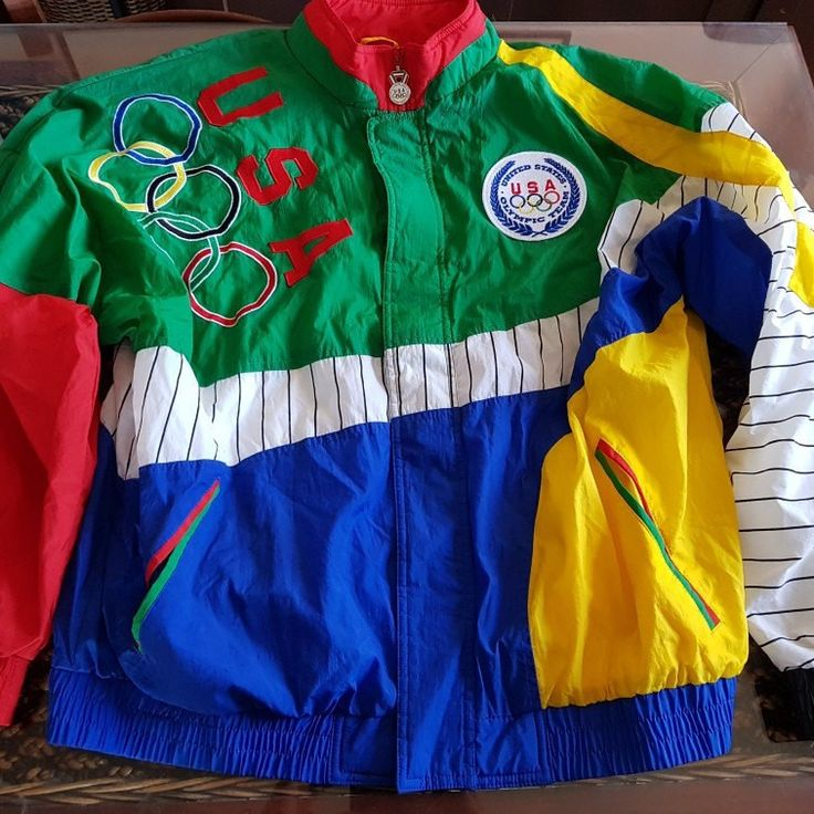 90s official Olympics team usa apex jacket, supreme colorful vintage style