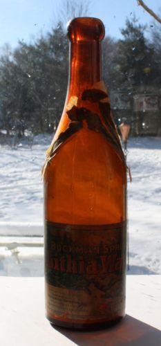 Amber Buckman Springs Lithia Water San Diego County California w Label | eBay very Rare bottle