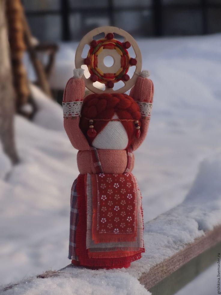 Купить Масленица(домашняя) - рыжий, Масленица, кукла ручной работы, Праздник, народная традиция, народный стиль