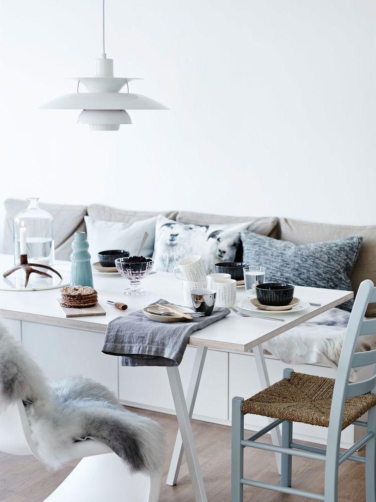 Malt jærstol. Skandinavian design