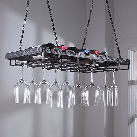 Metal Hanging Wine Glass Rack at Wine Enthusiast - $79.95