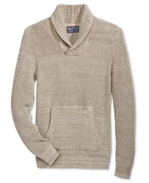 American Rag Men's Shawl-Collar Sweater, Only at Macy's - Tan/Beige M