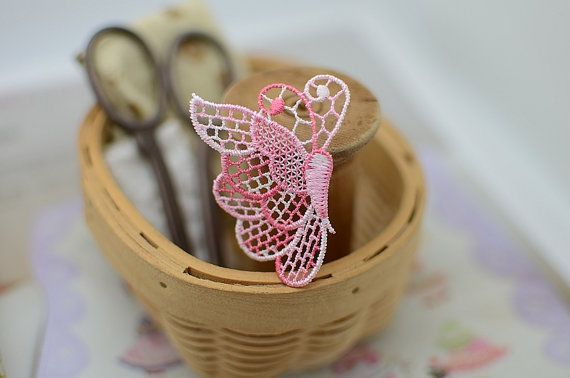 5 pcs Beautiful Colorful Butterfly Venise by LaceDecoration