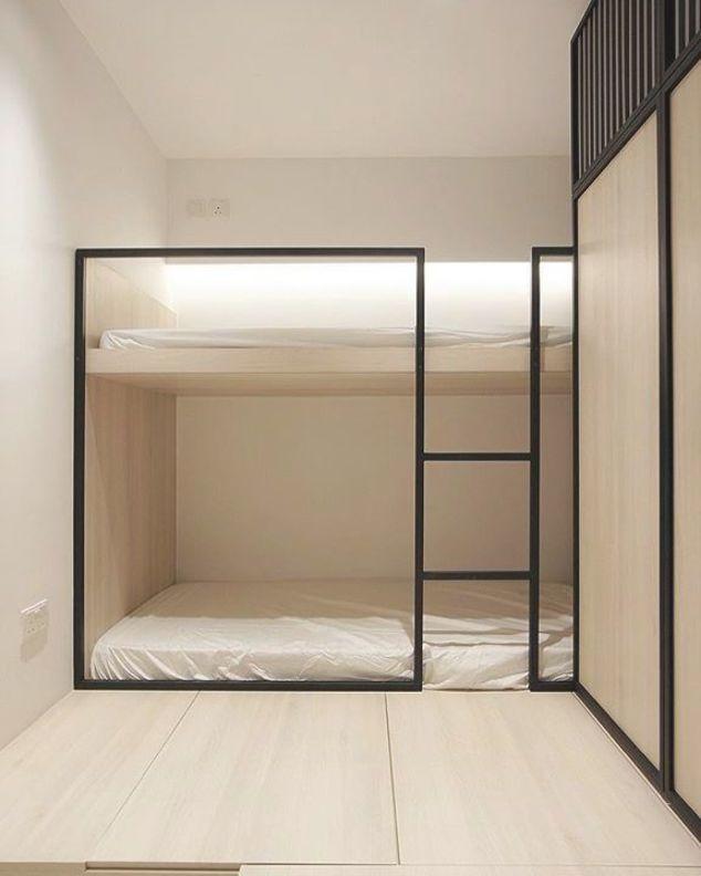 Scandinavian Design Concept Sur Instagram A Minimalist Built In Bunk Bed As Yo In 2020 Bunk Beds Built In Scandinavian Interior Bedroom Japanese Interior Design