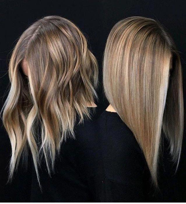 10 Möglichkeiten, Ash Blonde Balayage zu tragen Lange Bob-Frisuren 2019 Ash Blonde Balayag