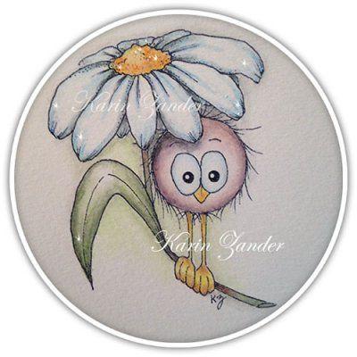 Birdie under flower