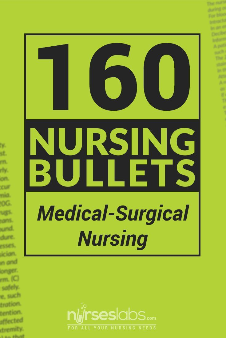 Nursing Bullets for Medical-Surgical Nursing is the ultimate reviewer for the NCLEX. This contains 160 bits of information, all about the concepts of Medical-Surgical Nursing that are easy to digest. You can simply print a copy of this reviewer and carry it all around and read it during your free time.