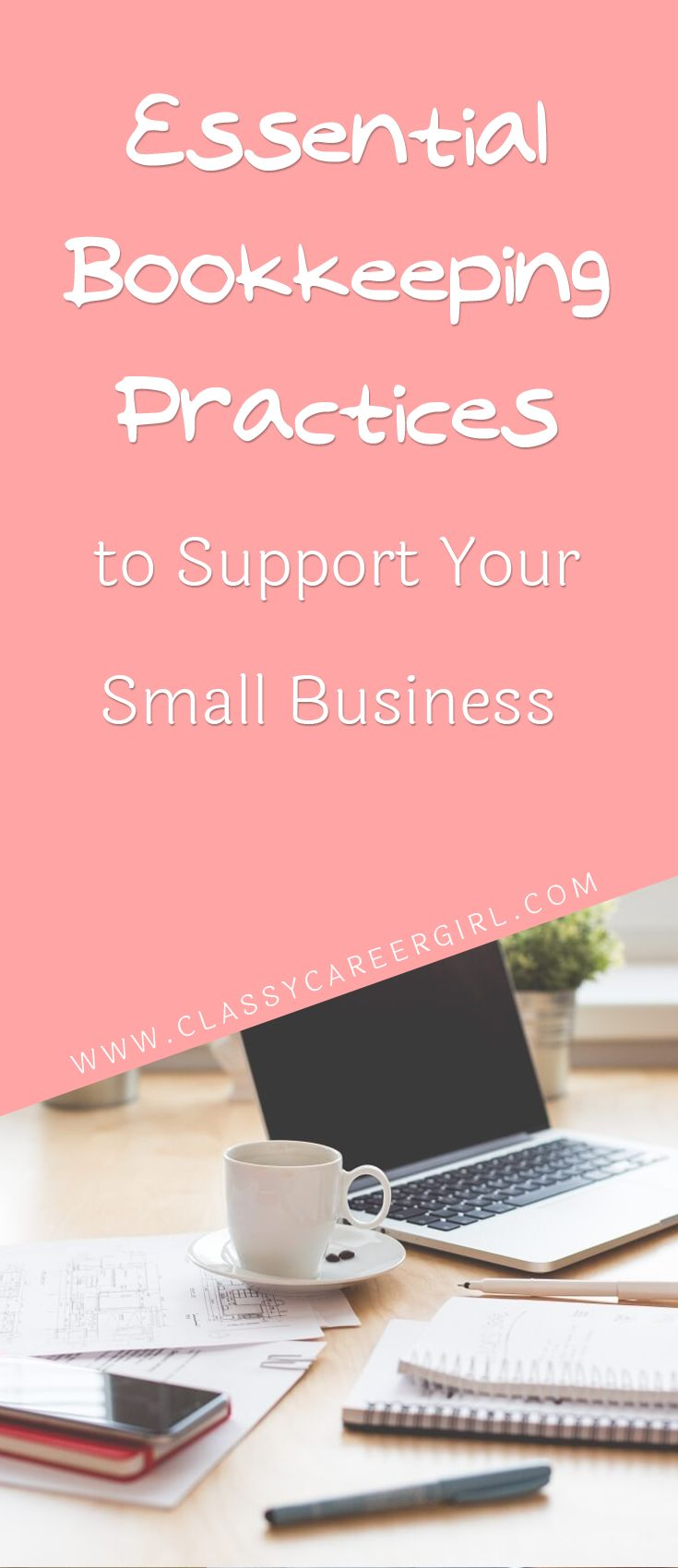 When you are just starting a business there are a lot of tasks on your plate so your accounting can easily get put on the back burner. http://www.classycareergirl.com/2016/07/bookkeeping-small-business/