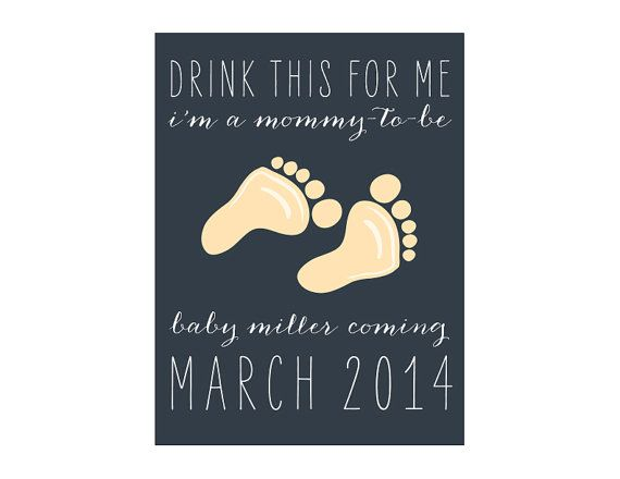 Custom Wine Labels - Pregnancy Announcement! (Personalized)