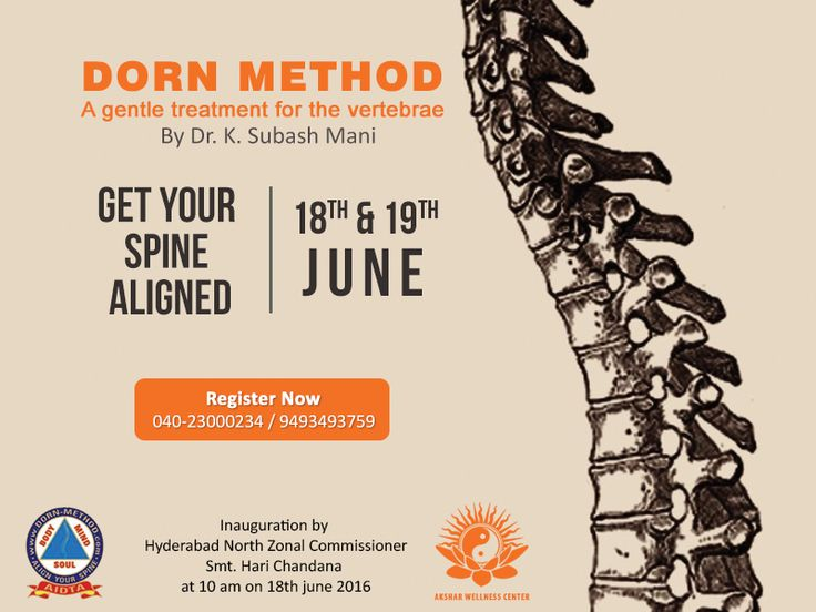 Join us for an extraordinary session of 'Dorn Therapy' a proven miraculous therapy that heals spinal alignment. Do not miss this opportunity! #DornTherapy #Aksharwellness #Wellness #Therapies