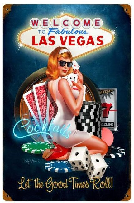 Vintage and Retro Tin Signs - JackandFriends.com - Las Vegas Good Times  Metal…