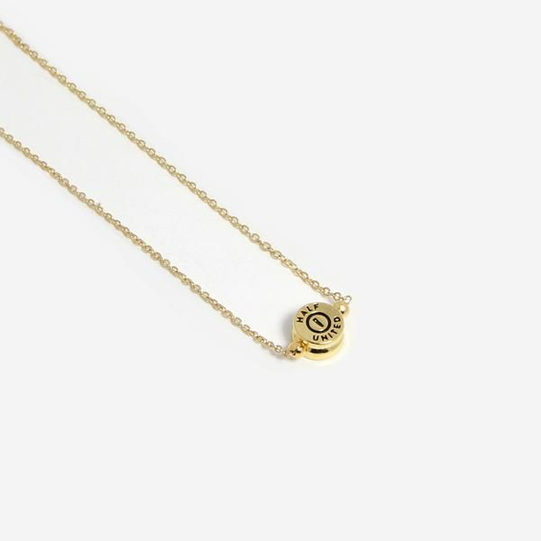 """16"""" gold chain. Gold plated bullet top bead pendant. Handmade in the USA. Fashion With a Cause // Our mission is to feed children in need and to provide you wi"""