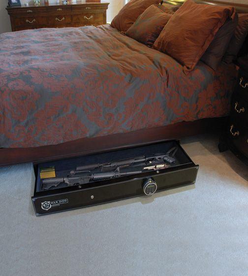 War Dog Biometric Under Bed Gun Safe