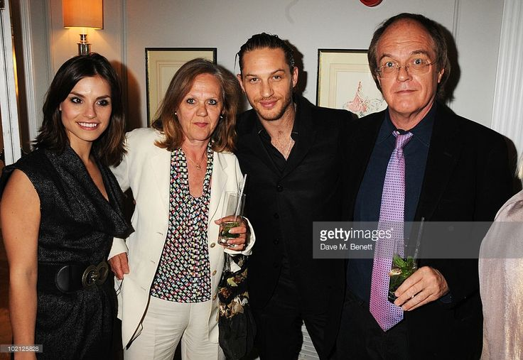 Charlotte Riley (L) and Tom Hardy (2nd from R) attend the English National Ballet Cocktail Reception at The Dorchester on June 15, 2010 in London, England.