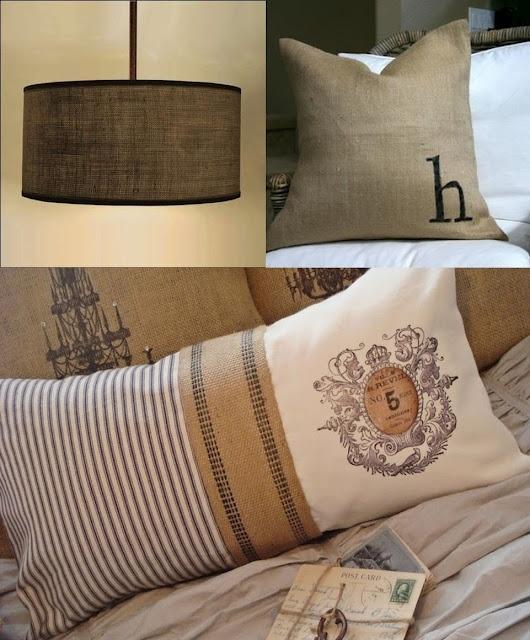 83 best burlap images on pinterest jute hessian fabric for Burlap fabric projects