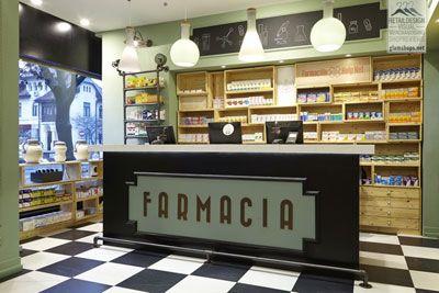 Decoración original para una farmacia en Bucarest