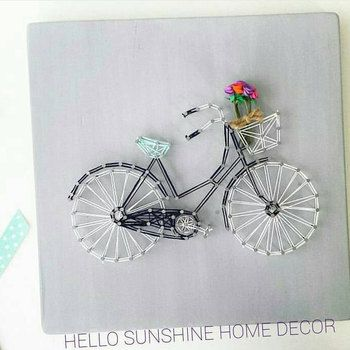 Bicycle String Art | Hello Sunshine Home Decor