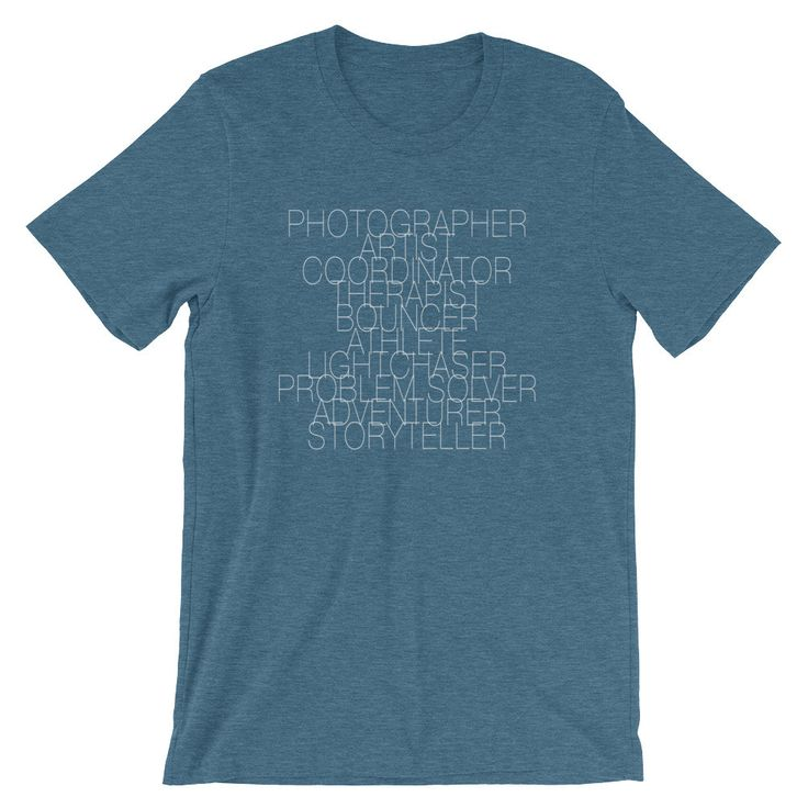 Wedding Photographer Job Description Shirt (9 Colors Available!)