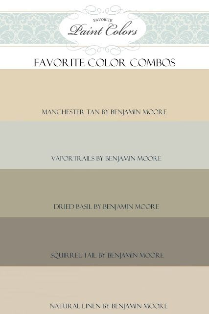 Favorite Paint Colors: Questions + Manchester Tan Color Combination