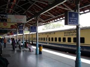 Old Shatabdi Express at Bangalore City Station
