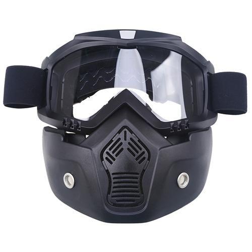 Face Mask Dust Mask & Detachable Motocross Goggle