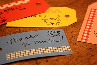 Hand made gift tags.