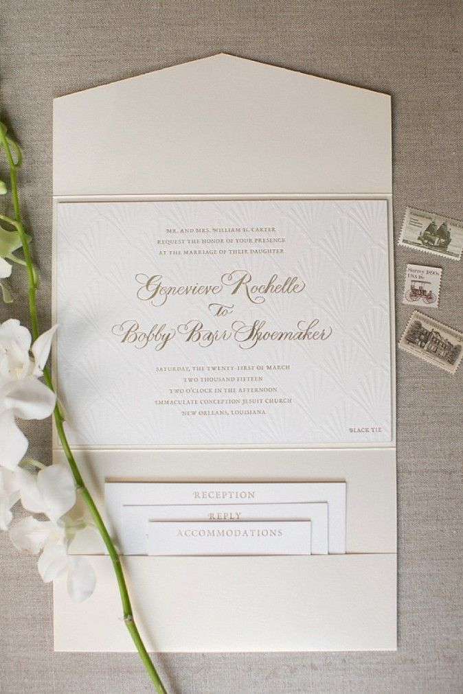 Genny + Barr | New Orleans Wedding. Invitation suite, vintage stamps, portfolio invitation suite, traditional wedding, stationery