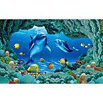 Животные принты 3D Обои Для дома Современный Облицовка стен , Нетканые бумаги материал Клей требуетсяфреска Отпечатки жикле 2017 - $56.43